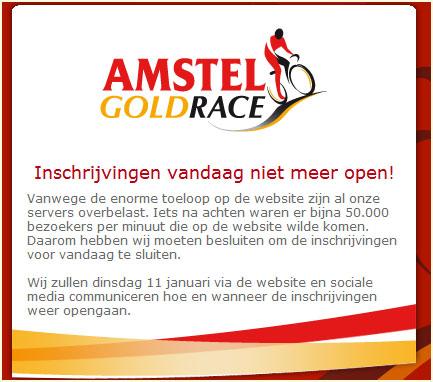 Inschrijving Amstel Gold #AGR