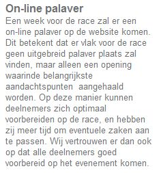 On-line pallaver