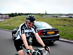 Gerrit na de 68km  etappe bij Harlingen