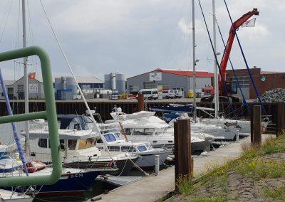 Lelijke haven van Borkum.